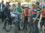 Modelites Bag Top Place in Cycle Rally. : Students from Model Academy bagged 1st and 2nd place in the cycle rally on 16th April 2017, organised by the Adventure Sports Club Jammu. The rally was flagged off from Bahu Plaza and culminated at Green Field Gandhinagar. 1st prize was won by Mast. Saksham Singh (Bicycle) and 2nd prize by Mast. Karin Verma (Safety kit) and Consolation prizes were won by Mast. Krishna and Mast. Rudra Pratap. The school management congratulated the students for their performance.